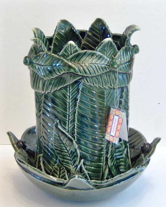 Pot Ceramic Art - Oasis- Stoneware Vase by Anastasia Verpaelst
