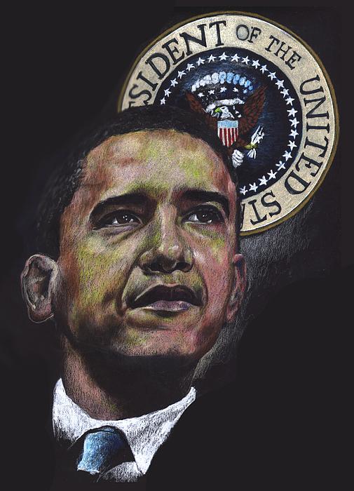 Obama Drawing - Obama Black by Carlton Ball