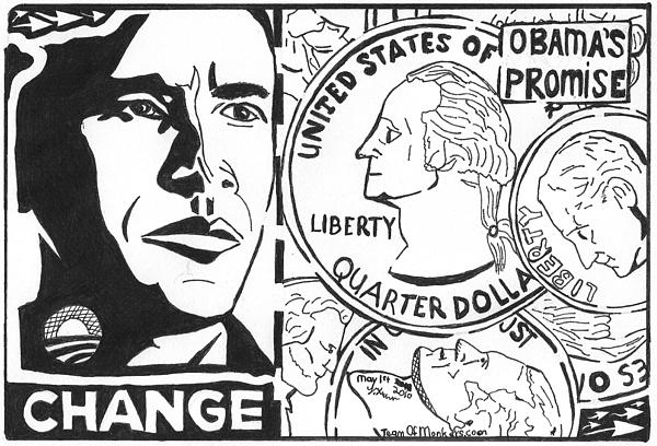 Obama Drawing - Obamas Promise by Yonatan Frimer Maze Artist