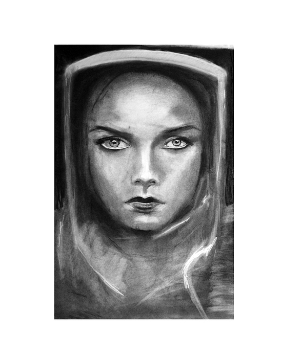 Charcoal Drawing - Obedience by Ian MacQueen