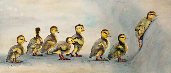 Babies Painting - Obstacle Course by Dee Carpenter