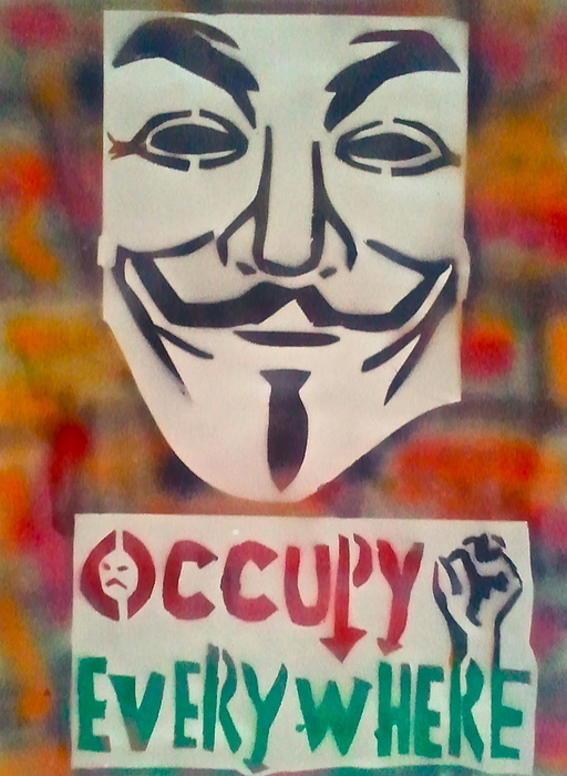 Occupy Painting - Occupy Mask by Tony B Conscious