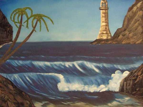 Ocean Painting - Ocean Cave  by Sheldon Kiroff