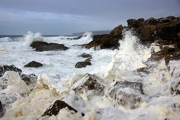 Background Photograph - Ocean Foam by Carlos Caetano