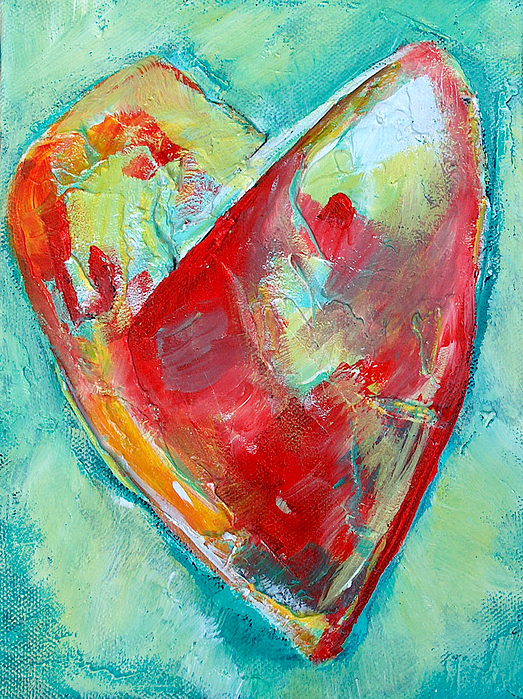 Heart Painting - Ocean Heart by Racquel Morgan