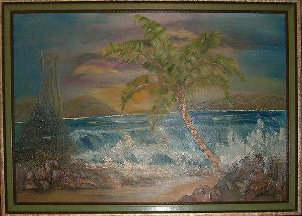 Seascape Painting - Ocean Storm by Mikki Alhart