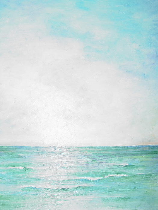 Water Painting - Ocean Waves by Robin Miller-Bookhout