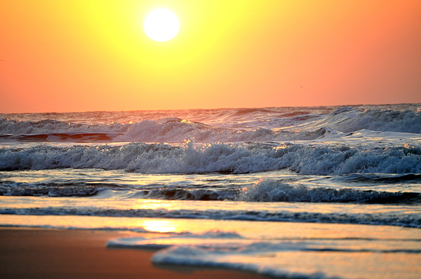 Sunrise Photograph - Oceans Morning by Emily Stauring
