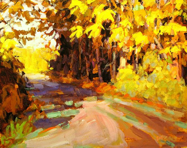 Landscape Paintings Painting - October by Brian Simons