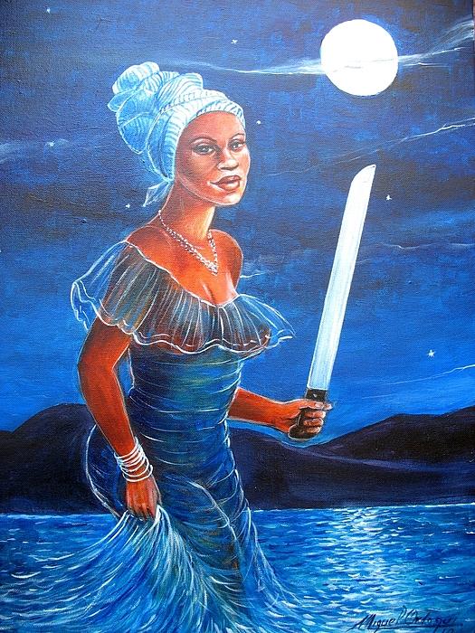 Azul Painting - Ocuti by Miguel Ordoqui