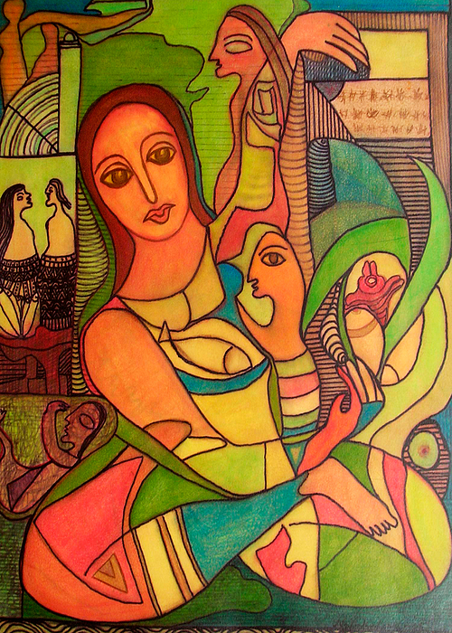 Paintings Painting - Ode To Serenity by Nabakishore Chanda