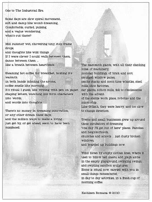 Poem Mixed Media - Ode To The Industrial Era by Kathleen Romana