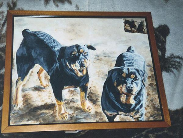 Dogs Painting - Ode To Toby And Jake by Nicole Uhing