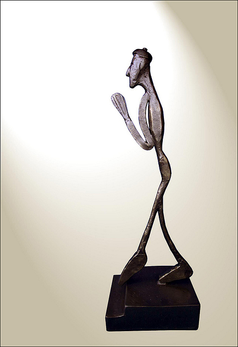 Of Poverty In Wrought Iron Sculpture by Petrit Metohu