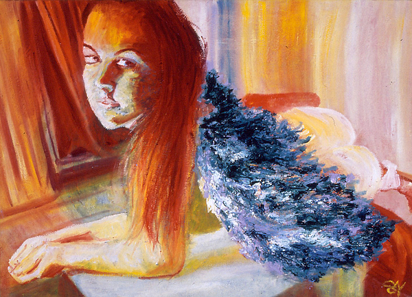 Portrait Painting - Office Angel II by LB Zaftig