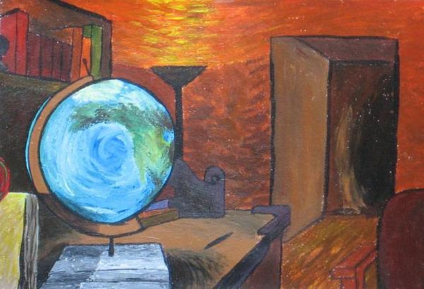 Impression Painting - Office by David Corrigan