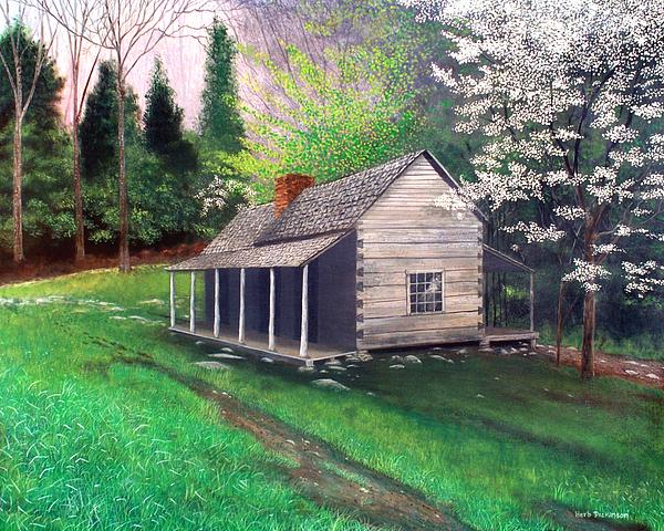 Traditional Painting - Ogle Homestead Gatlinburg Tn by Herb Dickinson
