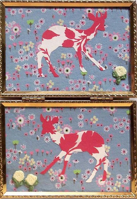 Deer Mixed Media - Oh Deer 1 by Marianne Devine