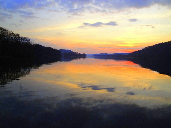 Ohio River Photograph - Ohio River At Sunset by Terry  Wiley