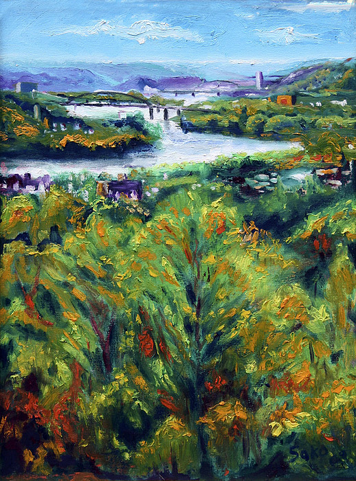 Landscape Painting - Ohio River From Ayers-limestone Road by Robert Sako
