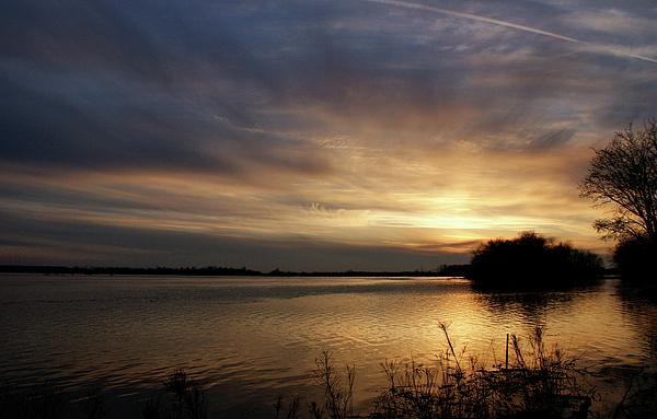 Sunset Photograph - Ohio River Sunset by Sandy Keeton