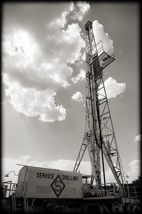 America Photograph - Oil Derrick II by Ricky Barnard