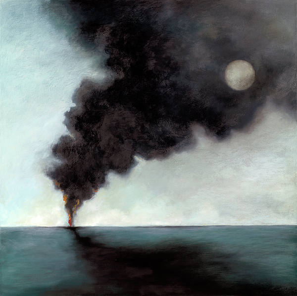 Smoke Painting - Oil Spill 3 by Katherine DuBose Fuerst