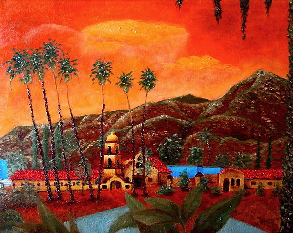 Cityscape Painting - Ojai Orange by Chris Haugen
