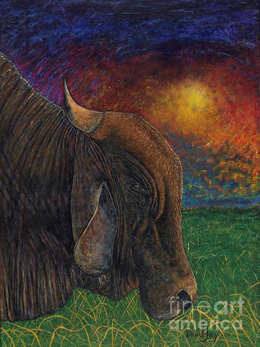 Cow Painting - Okeechobee Brahman by David Joyner