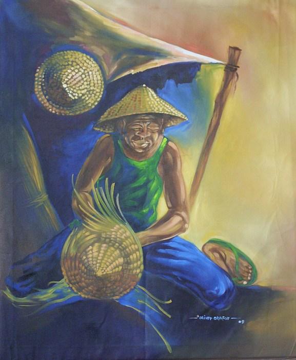 Crafts Painting - Okpa Nkete by Eziagulu Chukwunonso