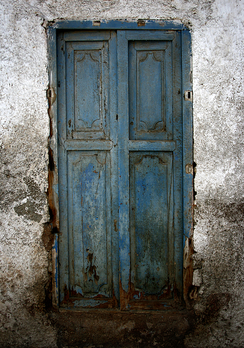 Old Doors Photograph - Old Blue Door by Shane Rees