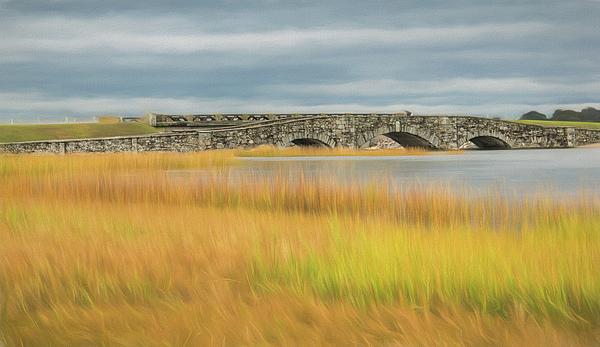 Old Bridge Photograph - Old Bridge In Autumn by Nancy De Flon