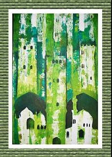 Islamic Architecture Painting - Old Buildings by Kashif Khan