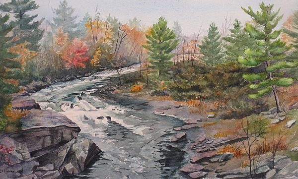 Burleigh Painting - Old Burleigh Stream by Debbie Homewood