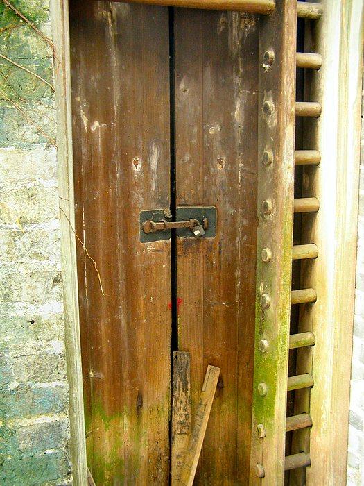 Door Photograph - Old Chinese Village Door Series Eight by Kathy Daxon