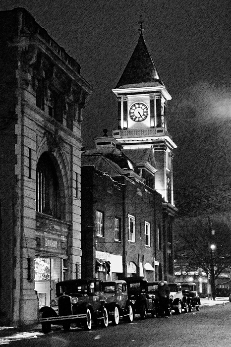Old Cars Photograph - Old City Hall by Wade Aiken