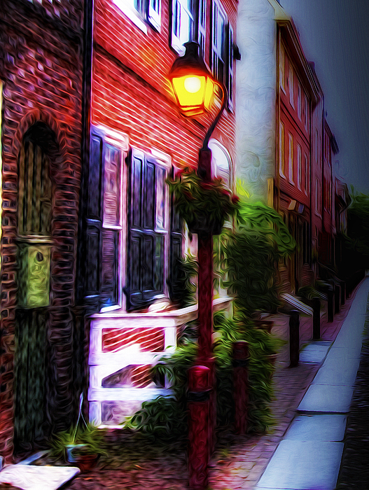 Old City Photograph - Old City Streets - Elfreths Alley by Bill Cannon