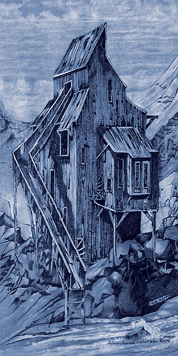 Old Colorado Mine Painting by Donn Kay