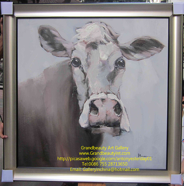 Cow Painting - Old Cow by Darren