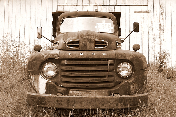 Ford Photograph - Old F1 Sepia Ford by Dennis Morgan