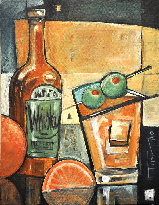 Olives Painting - Old Fashioned Sweet With Olives by Tim Nyberg