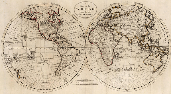 Old Fashioned Looking World Map