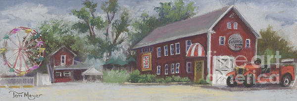 Winery Painting - Old Firehouse Winery  by Terri  Meyer