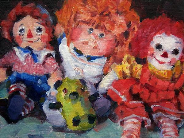 Toys Painting - Old Friends by Merle Keller