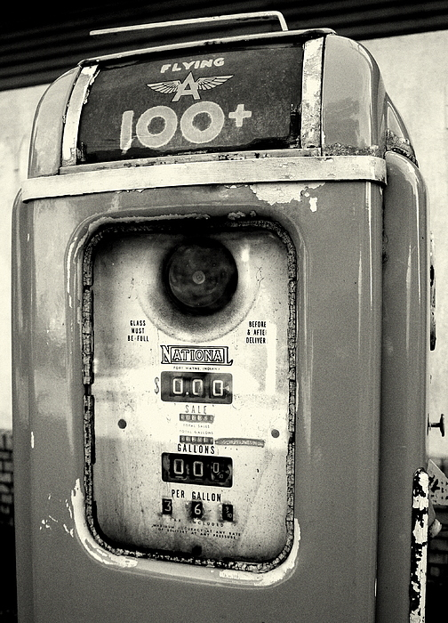 Gasoline Photograph - Old Gas Pump by DazzleMePhotography