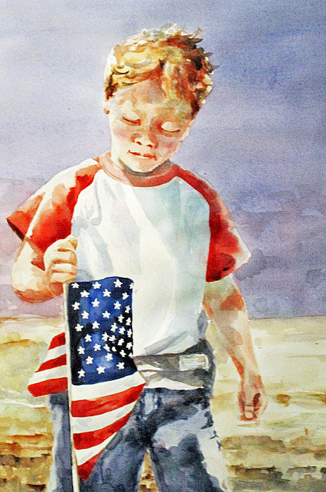 Summer Painting - Old Glory Forever Young by Diane Fujimoto