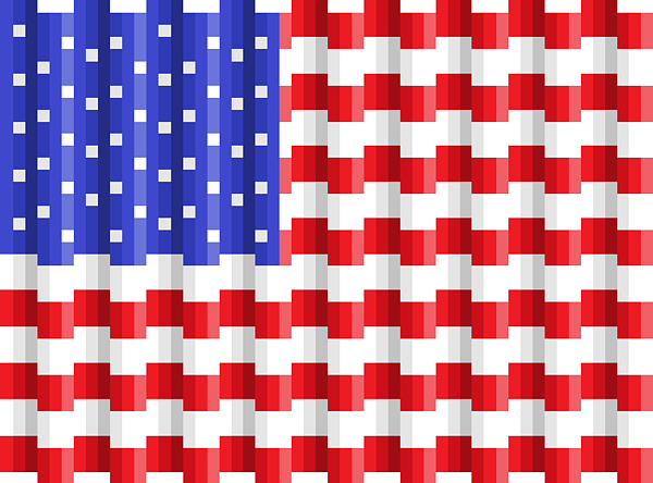 Flag Digital Art - Pixilated Old Glory by Gerald Lynch