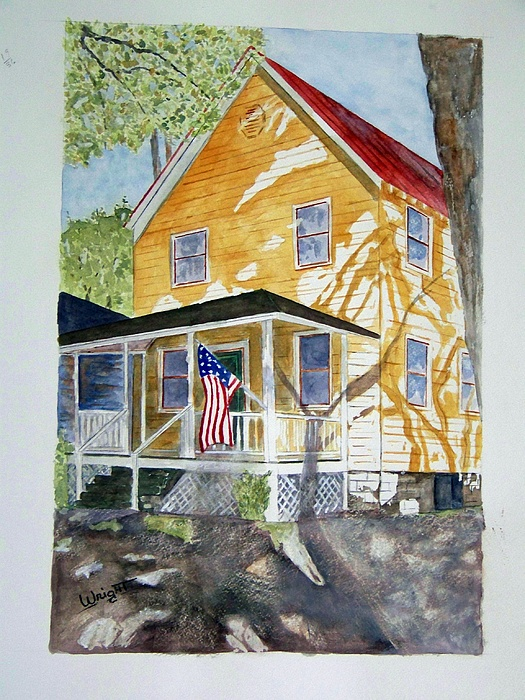 Architecture Painting - Old Glory by Larry Wright