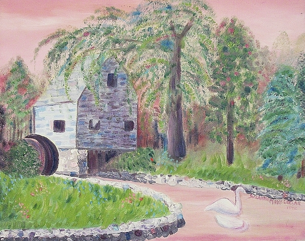 Cape Cod Painting - Old Grist Mill by Suzanne  Marie Leclair