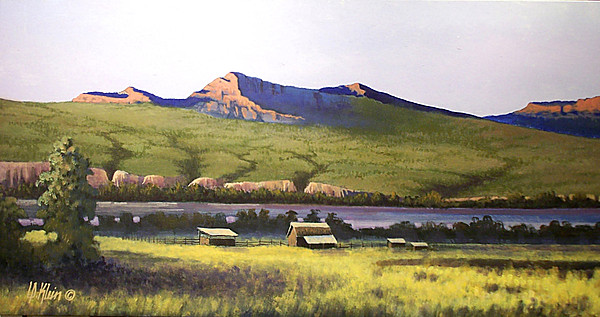 Landscape Painting - Old Homestead by Dalas Klein